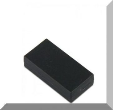 25x13x6 mm. NdFeB Műanyag-bevonatos mágnes (Polipropilén) -fekete