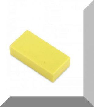 25x13x6 mm. NdFeB Műanyag-bevonatos mágnes (Polipropilén) -Citromsárga