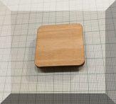 Tábla mágnes (NdFeB mágnessel) Üveg - mágnestáblához (Felület lakkozott nyírfa)