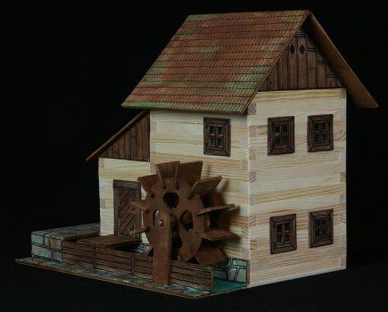 Építőkészlet fa játék -Vízimalom - Nr.-16