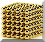 """""""NEO-Kocka"""" (Az új örület) 216db. 5mm. golyócska gold"""