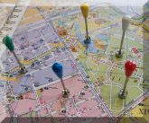 Üvegfejű mágneses térképtű (D5x30 mm.)