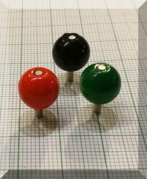 Térkép jelölő mágnes (narancs) D10 mm.