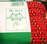 Többcélú fonatolt kötél (5mm. 55 kg.) méterre vásárolható.